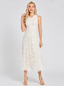Ericdress Scoop Neck Zipper-Up A Line Lace Evening Dress