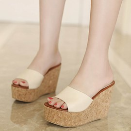 Ericdress Flip Flop Platform Wedge Heel Mules Shoes