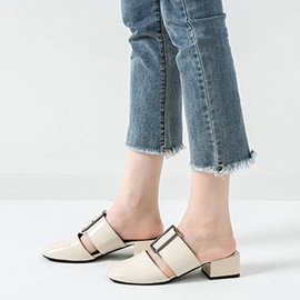 Ericdress Slip-On Block Heel Closed Toe Mules Shoes