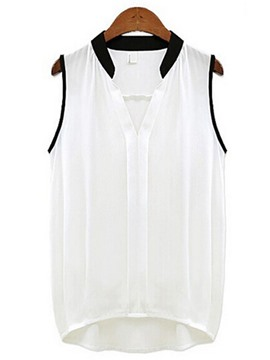 Ericdress Women's Casual Chiffon Sleeveless Blouse