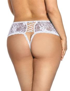 Ericdress Plain Lace Hollow Sexy Women Pantie