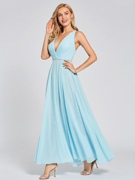 Ericdress V Neck Beadding A Line Evening Dress