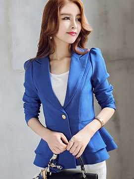 ericdress un bouton simple blazer féminin