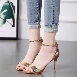 Ericdress Luxrious Line-Style Buckle Stiletto Sandals