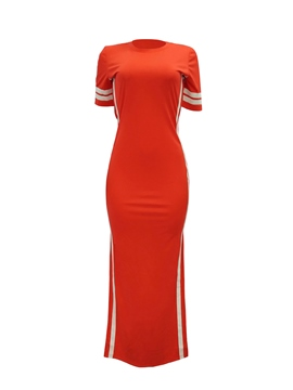 Ericdress Split Ankle-Length Pullover Simple Bodycon Dress