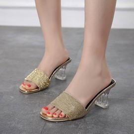 Ericdress Flip Flop Horse-Shoe Heel Mules Shoes