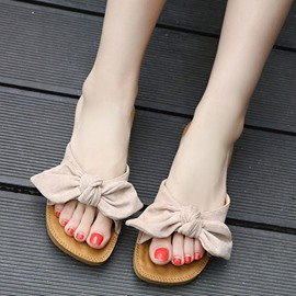 Ericdress Sewing Bowknot Flip Flop Mules Shoes