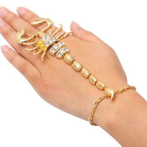 Ericdress Scorpion Diamante Charm Bracelet