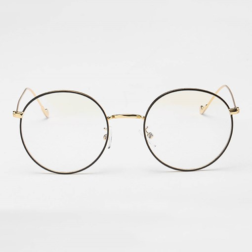 Ericdress Round Black Rimmed Glasses