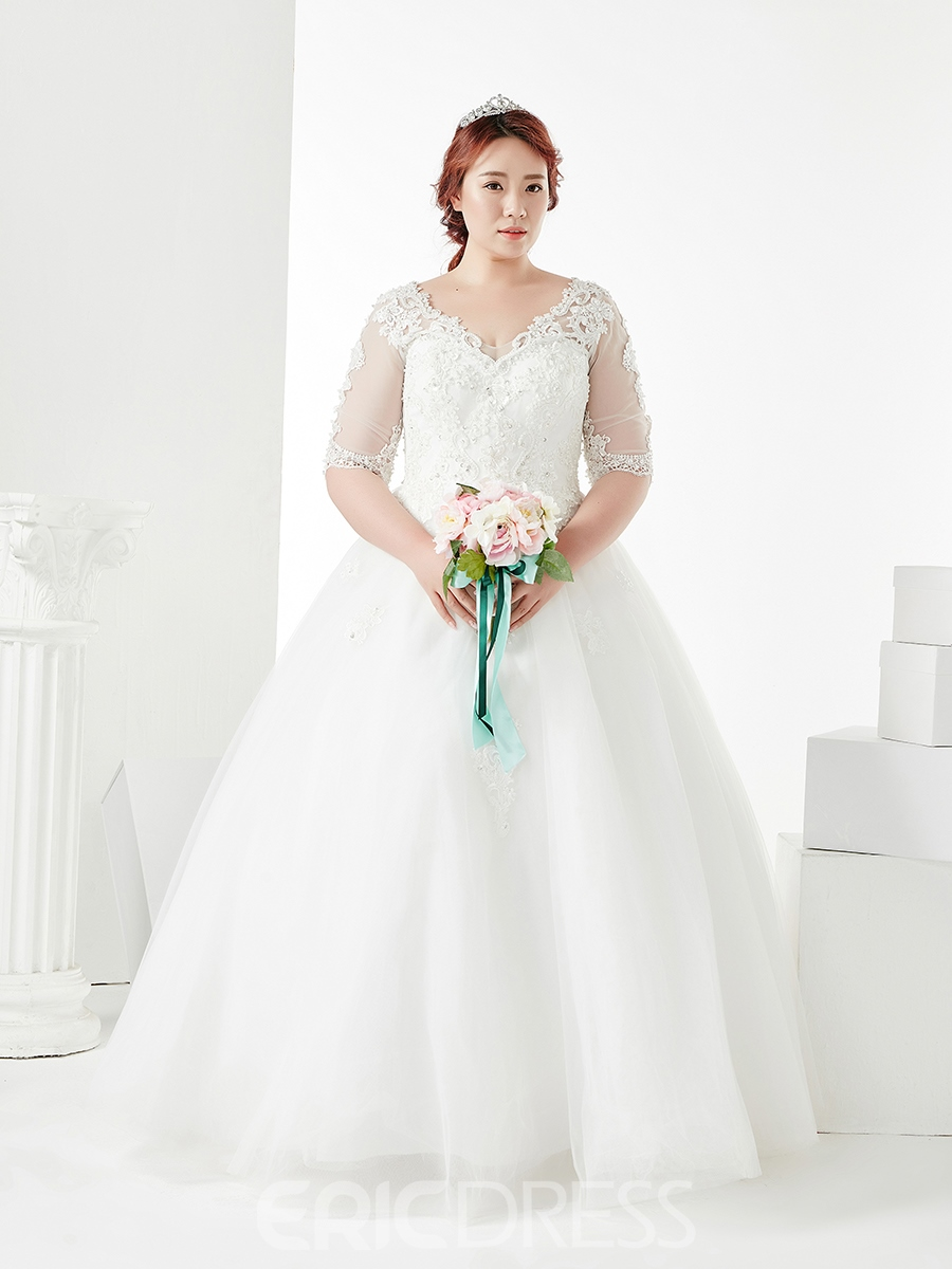 Ericdress Ball Gown Plus Size Wedding Dress