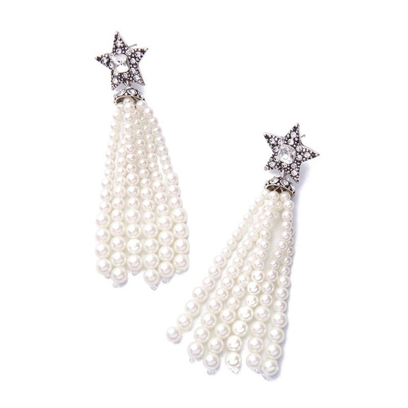 Dricdress Star Tassels Drop Earring