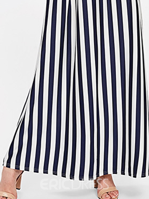 Ericdress Stripe Short Sleeve Pullover A-Line Dress