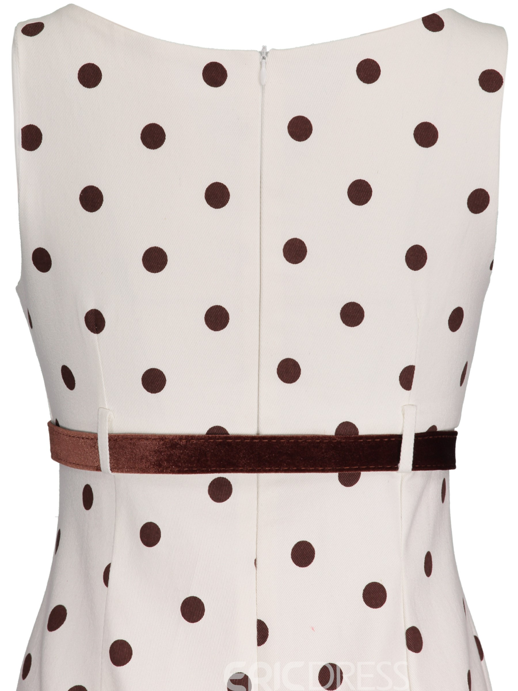 Ericdress Polka Dots Shorts Belt Wide Legs Slim Jumpsuit