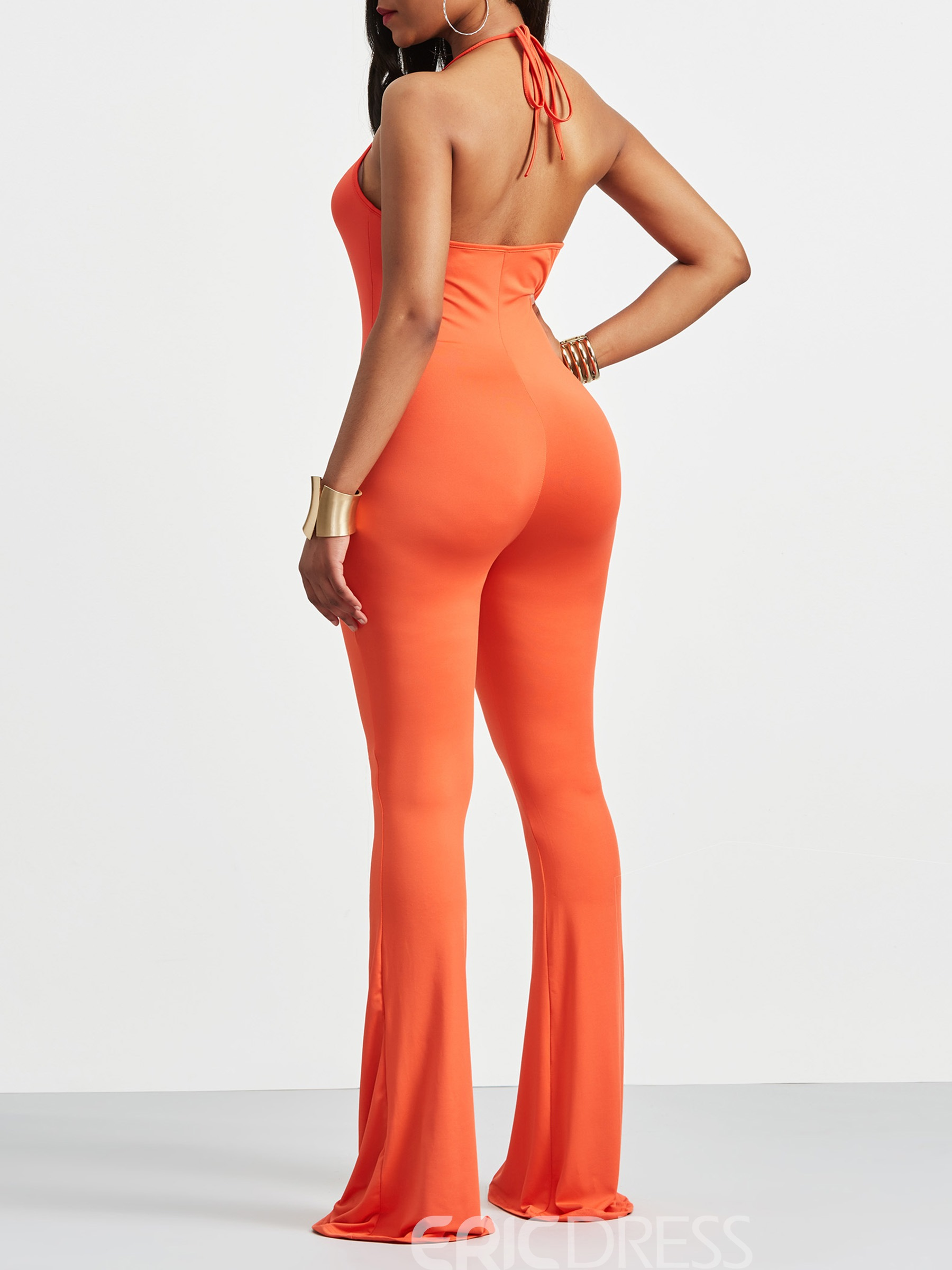 Ericdress Skinny Backless Women's Athletic Jumpsuit