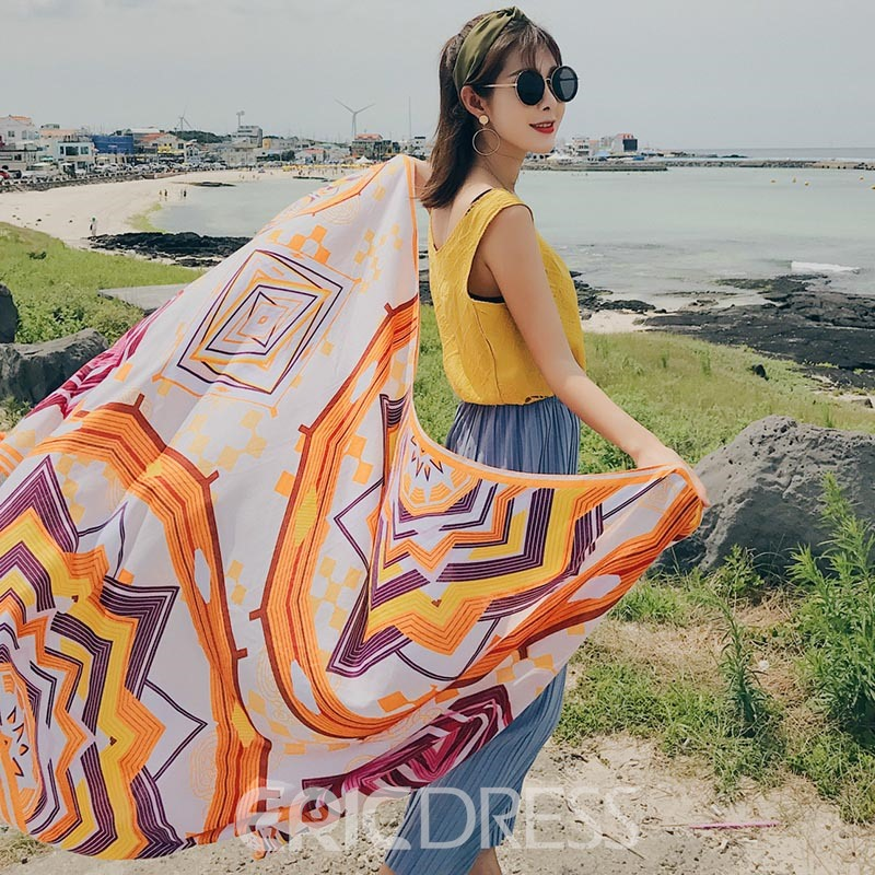 Ericdress Square Beach Shawl