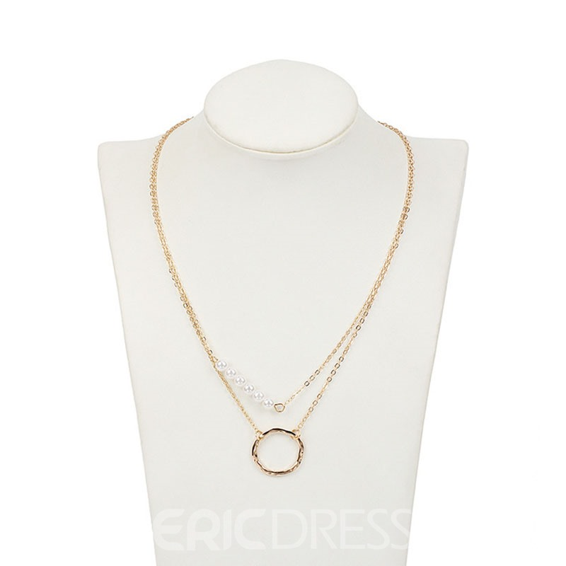 Ericdress Pearl Annulus Chain Necklace