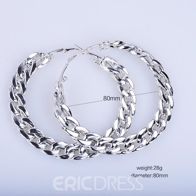 Ericdress Multicolor Iron Hoop Earring