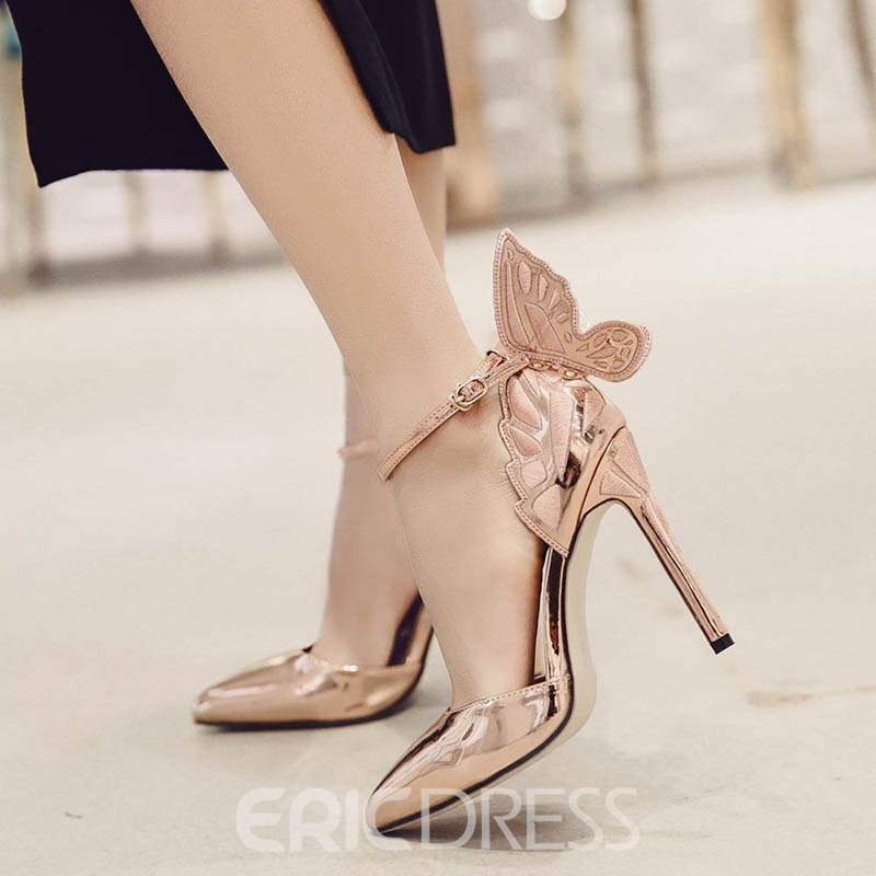 Ericdress Appliques Pointed Toe Stiletto Heel Pumps