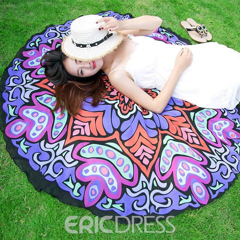 Ericdress Colorful Chiffon Printing Beach Shawl