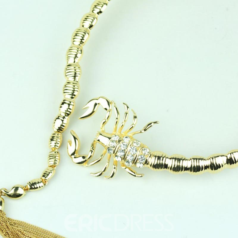 Ericdress Scorpion Tassel Torques Necklace