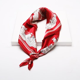 Ericdress Silk Color Block Scarf
