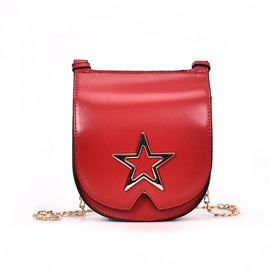 Ericdress Casual Plain PU Women Saddle Bag