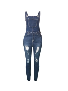 Ericdress Suspenders Pencil Hole Women's Jumpsuits