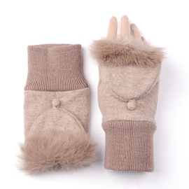 Ericdress Winter Keep Warm Flip Lady Gloves