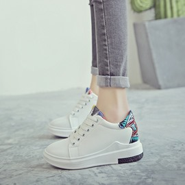 Ericdress Platform Print Lace-Up Round Toe Women's Sneakers