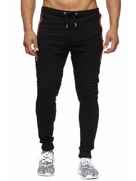 Ericdress Plain Stripped Lace Up Mens Casual Sports Pants