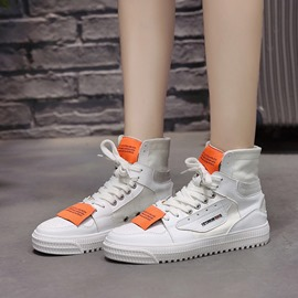 Ericdress Patchwork Color Block High-Cut Lace-Up Women's Sneakers