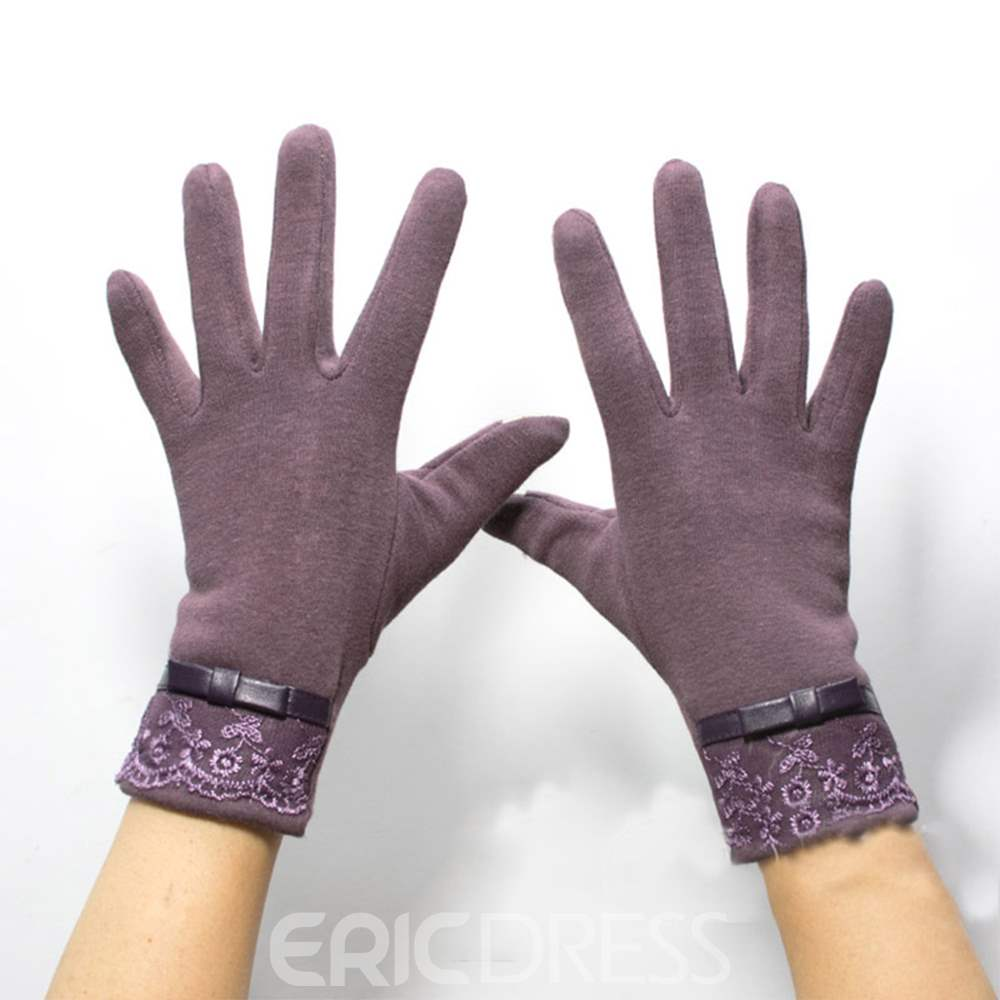 Ericdress Keep Warm Dot Cotton Lady Gloves