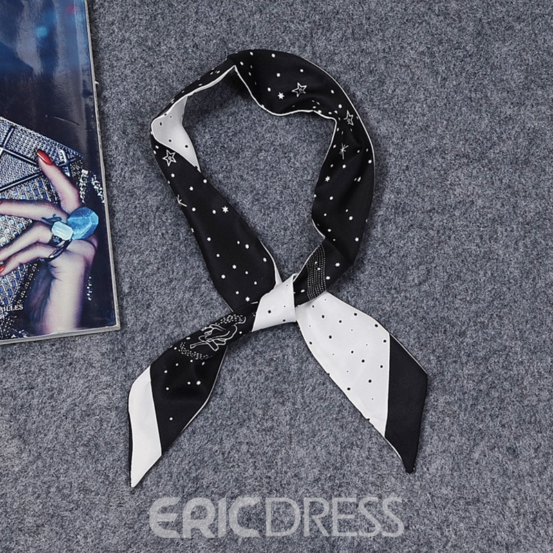 Ericdress Double Printing Star Head Bag Body Scarf for Women