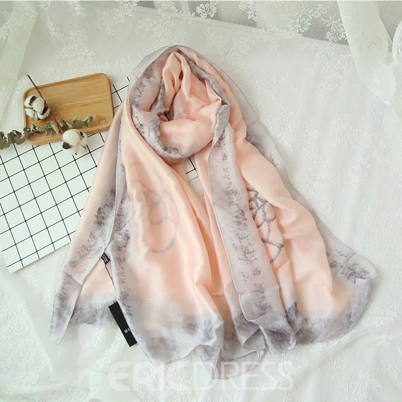 Ericdress Autumn Ink Painting Silk Scarf for Women
