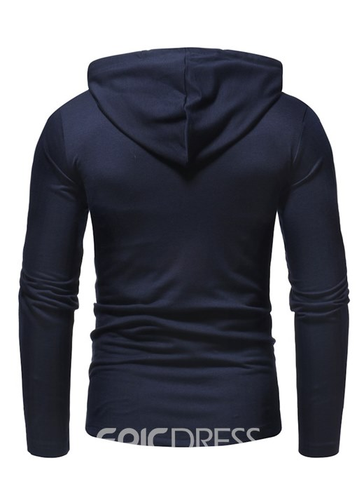 Ericdress Plain Slim Fitted Pullover Hooded Mens Casual Hoodies