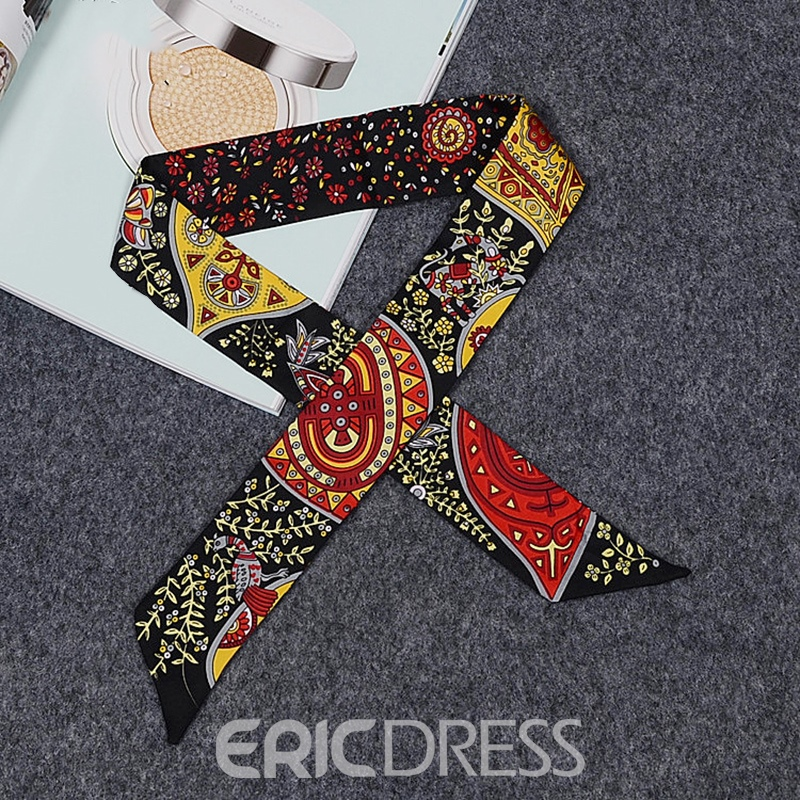 Ericdress Printed Pattern Silk Bag Scarf For Women