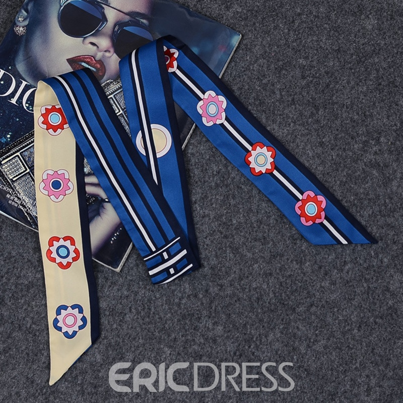 Ericdress Flowers Head Bag Silk Scarf For Women