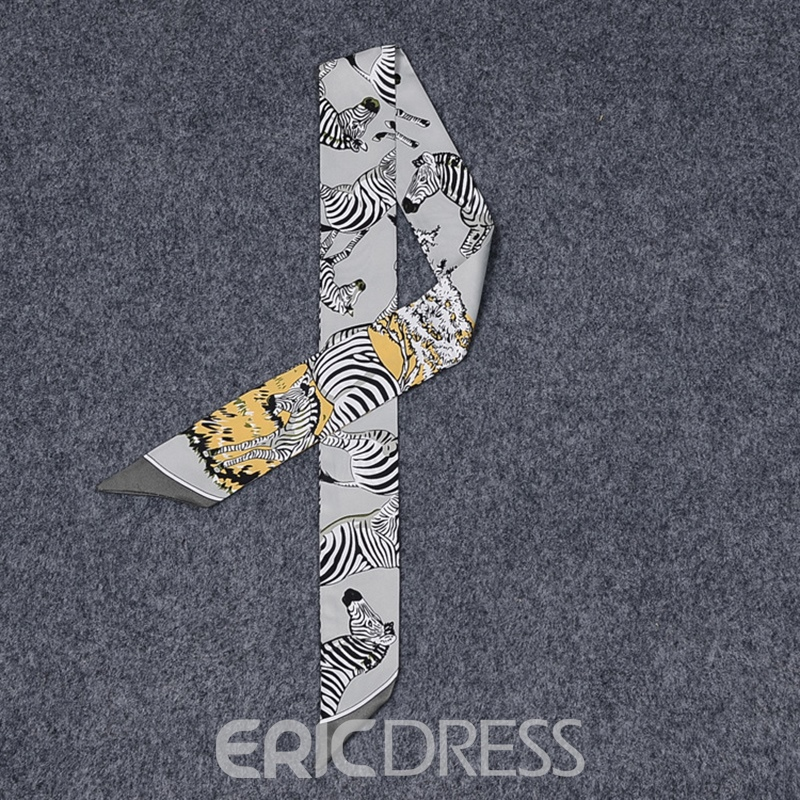 Ericdress Zebra Silk Bag Scarf For Women