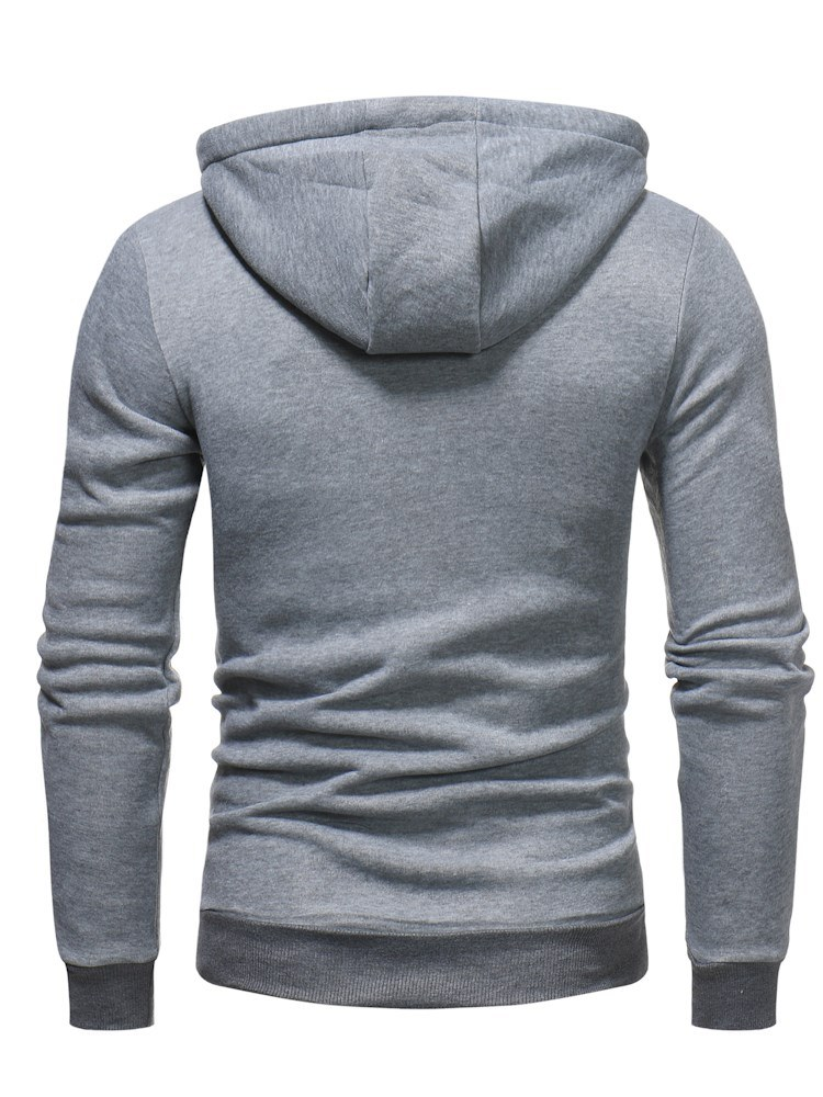 Ericdress Plain Slim Pullover Mens Casual Fleece Hoodies