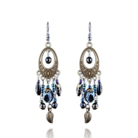 Ericdress Tassels Hand Made Beads Ethnic Style Earrings