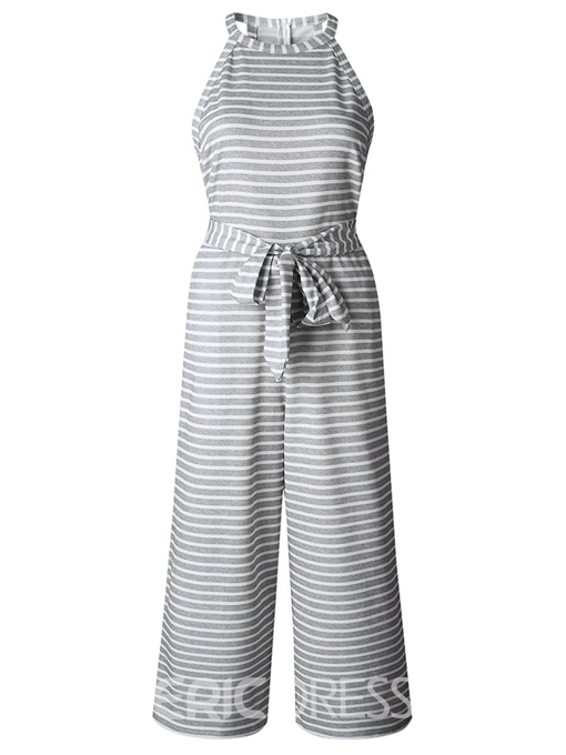 Ericdress Stripe Loose Wide Legs Women's Jumpsuits