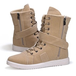 Ericdress Lace-Up Side Zipper Mid-Calf Mens Martin Boots  - buy with discount