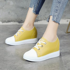 Ericdress Mustard Yellow Hidden Elevator Heel Women's Flats