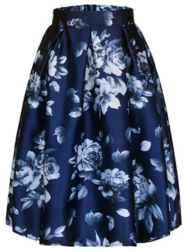 Ericdress Floral Full Print Women's Skirt