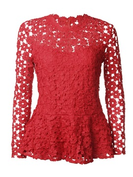Ericdress Lace Ruffles Tunic Long Sleeves Womens Top