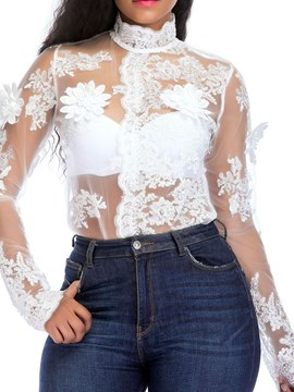Ericdress See-Through Lace Skinny Women's Bodysuit
