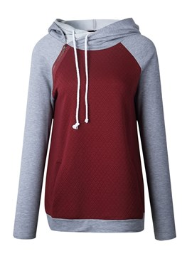 Ericdress Casual Patchwork Slim Casual Cool Hoodie