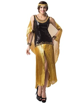 Ericdress Slit Up Bling Arab Girl Halloween Costume