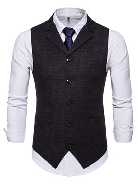 Ericdress Plain Vest & Dress Shirts Mens Business Casual Outfits