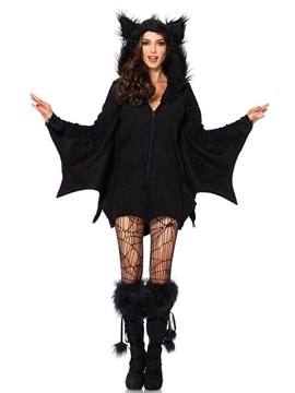 Ericdress Zipper Bat Evil Vampire Halloween Costume